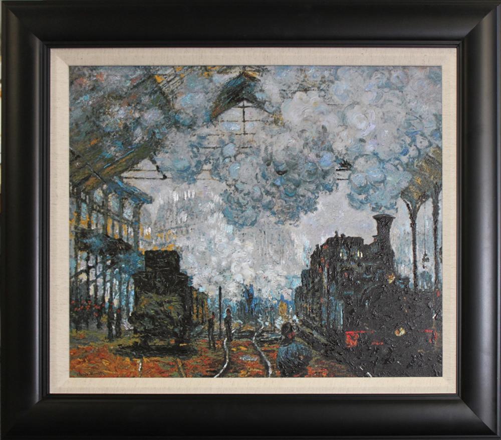 Train Station at St Lezare Claude Monet