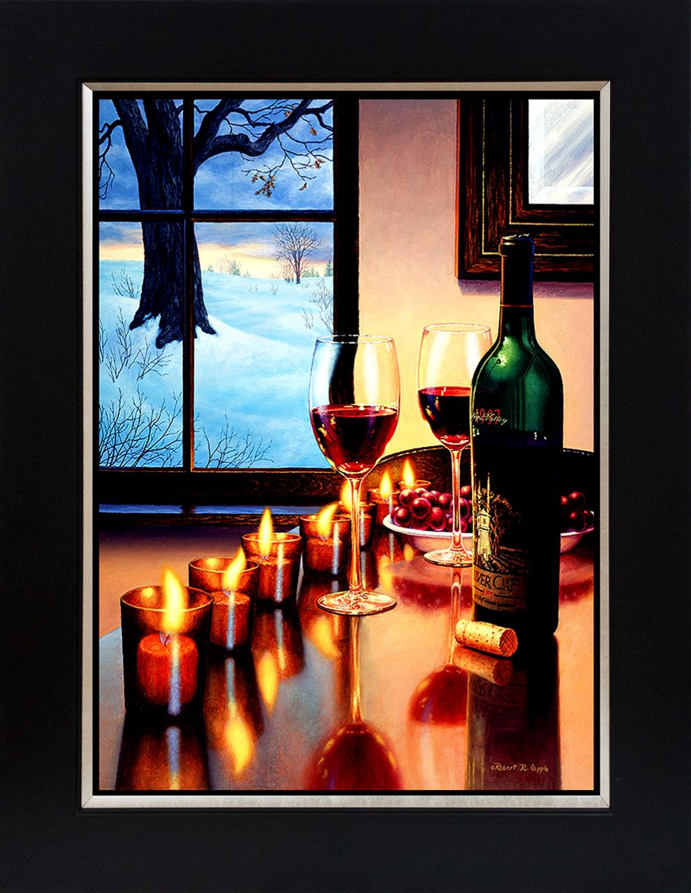Lot 2766: Robert Copple Wine Series Hand embellished Limited edition on canvas