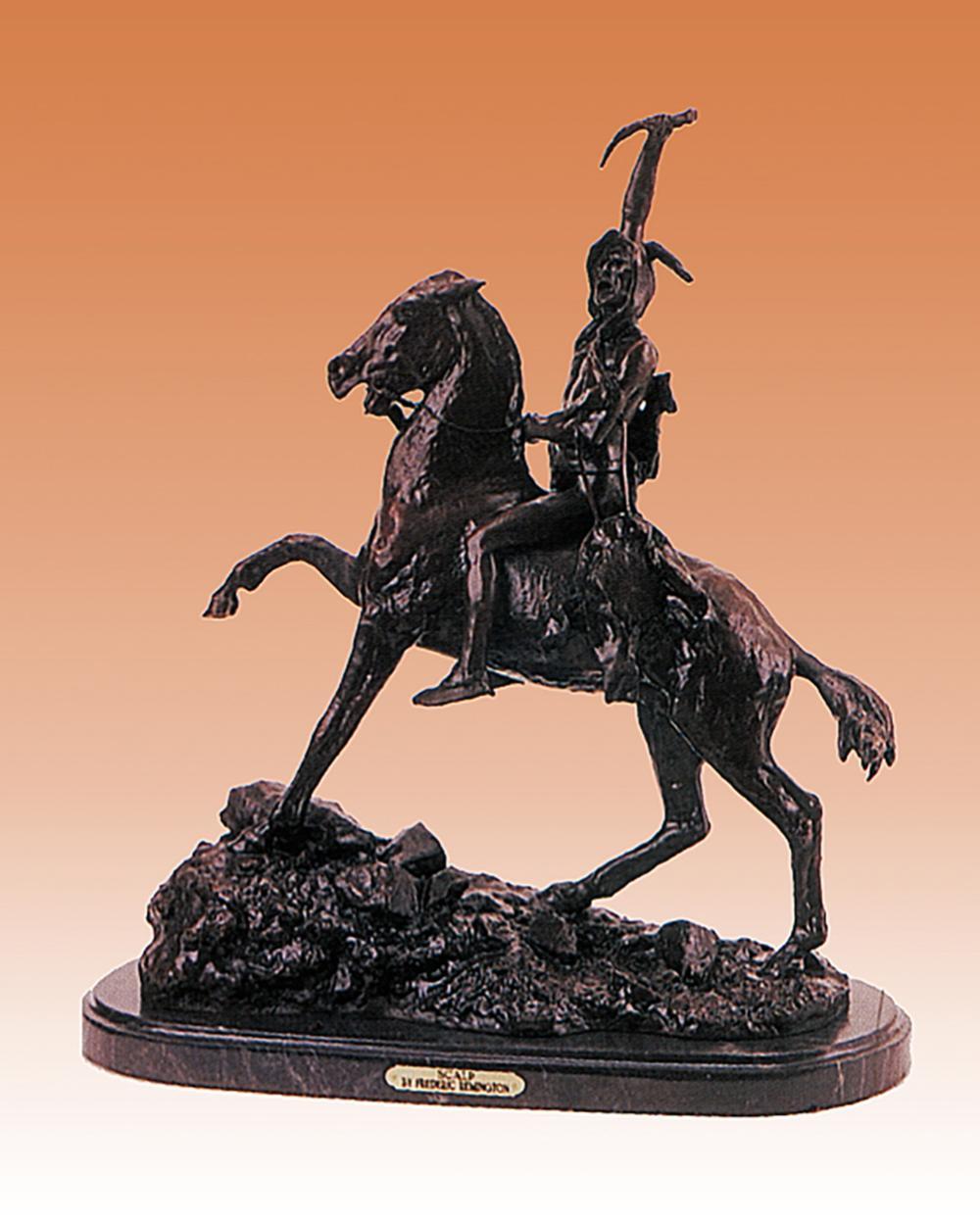 Lot 2825: Frederic Remington-Bronze Sculpture-Scalp