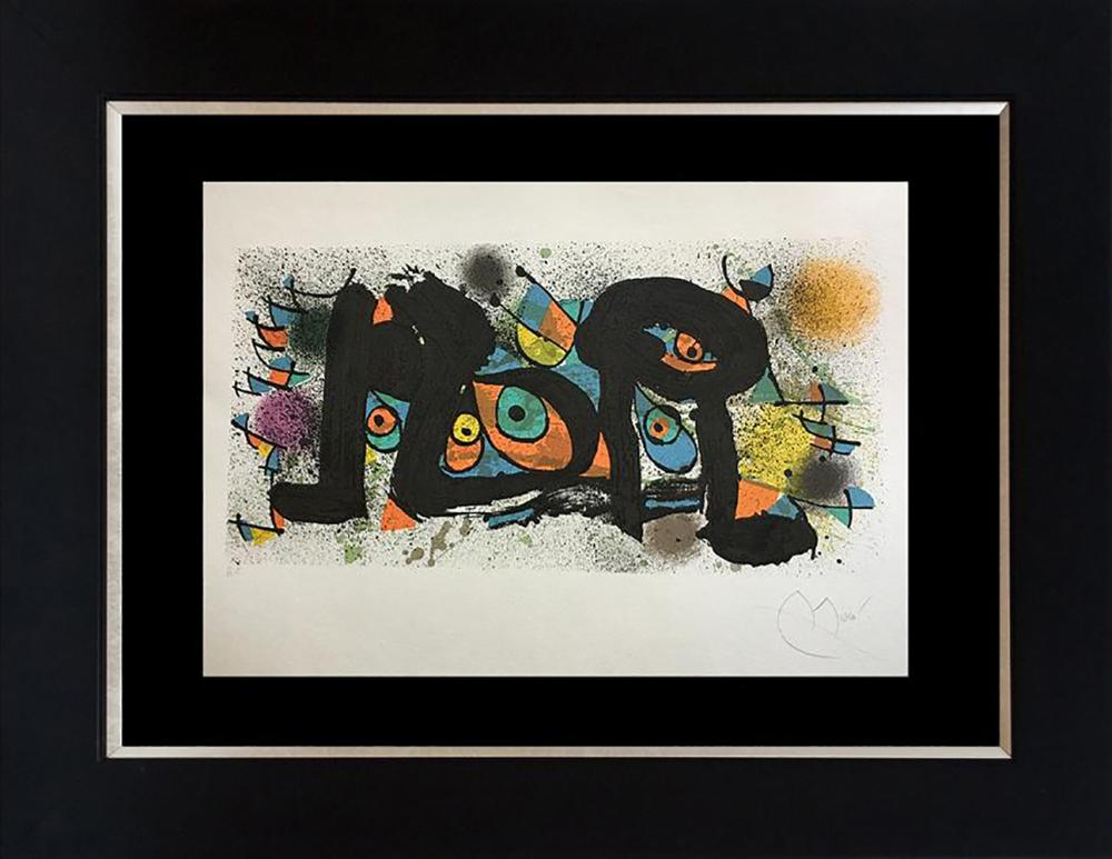 Joan Miro Limited Edition Lithograph hand signed and numbered Sculptures II Artist Proof from 1974  Approx 30x22 inches