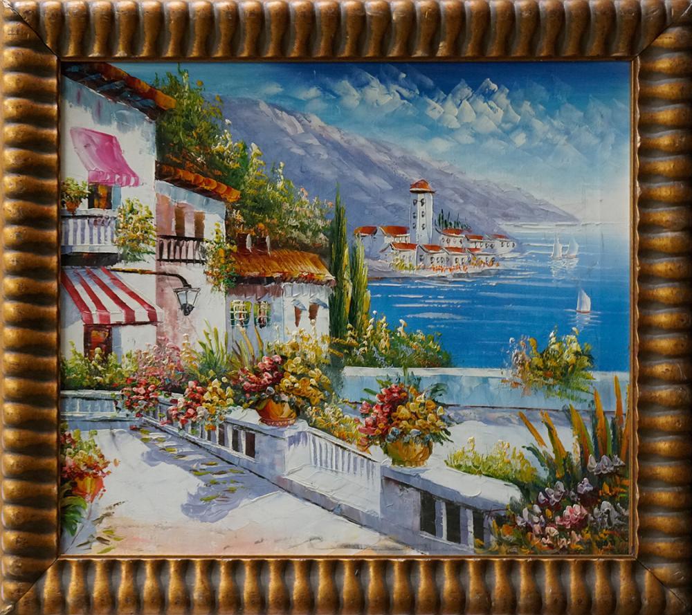 Lot 2823: Original on canvas by Roji