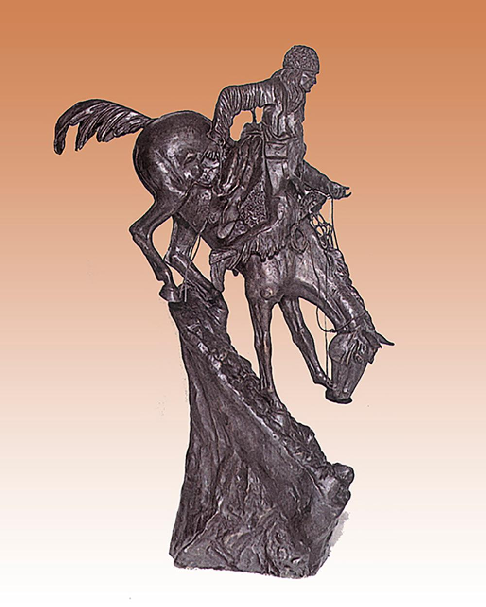 Frederic Remington Mountain Man Bronze Sculpture