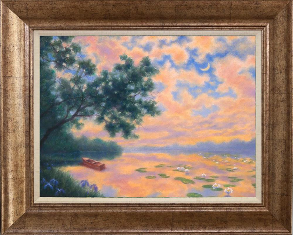 Lot 2838: Robert Copple Boating in the Evening Original on canvas