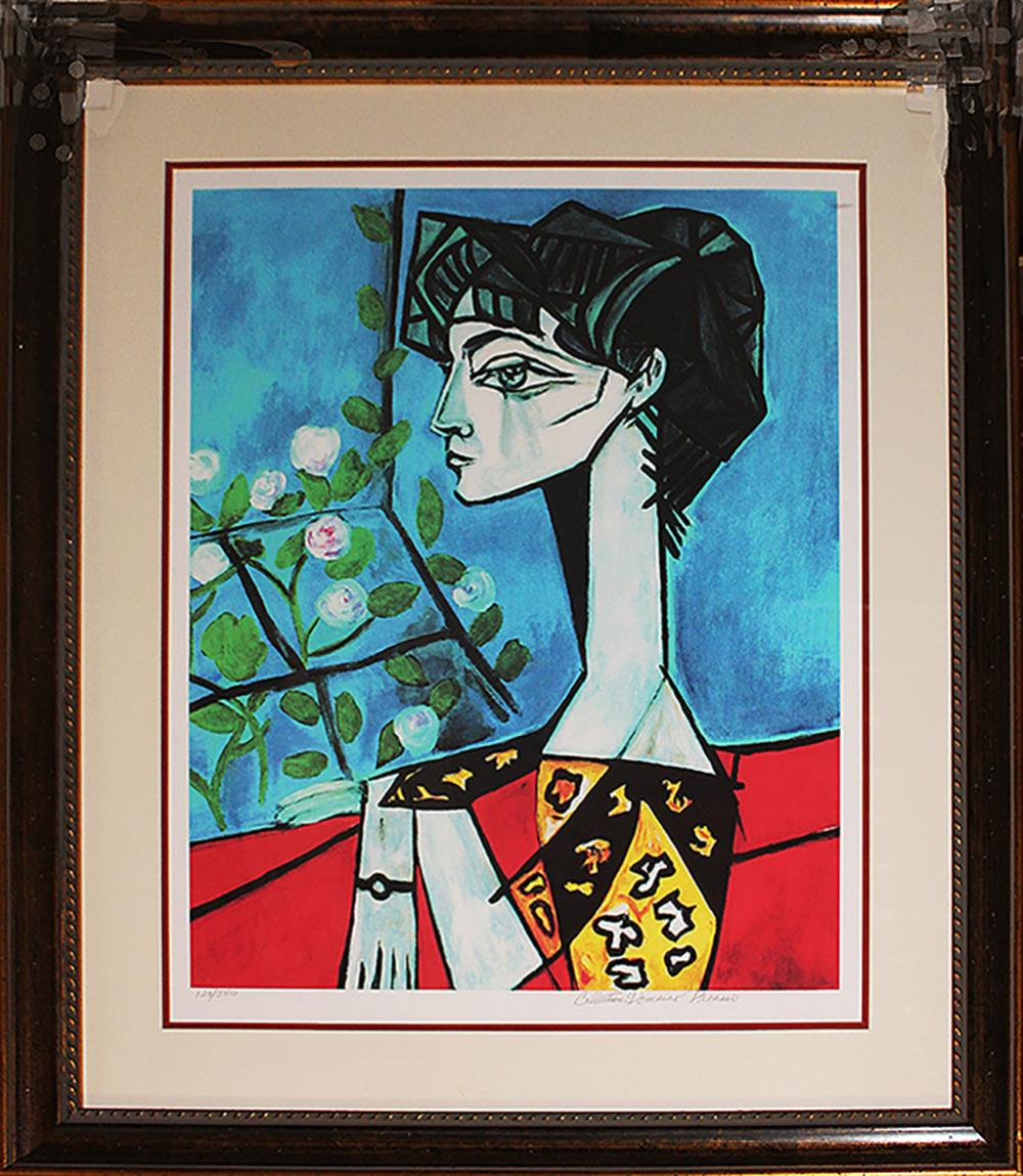Limited Edition -Jacqueline With Flowers after Pablo Picasso