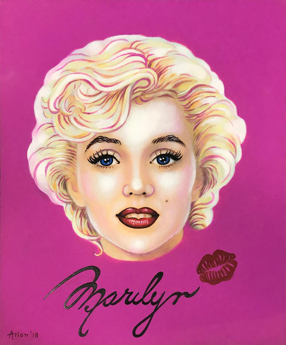 Katherine Arion original on canvas Marilyn Monroe