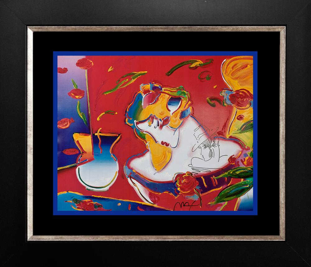 Peter Max Mixed Media on paper Flower Blossom Lady