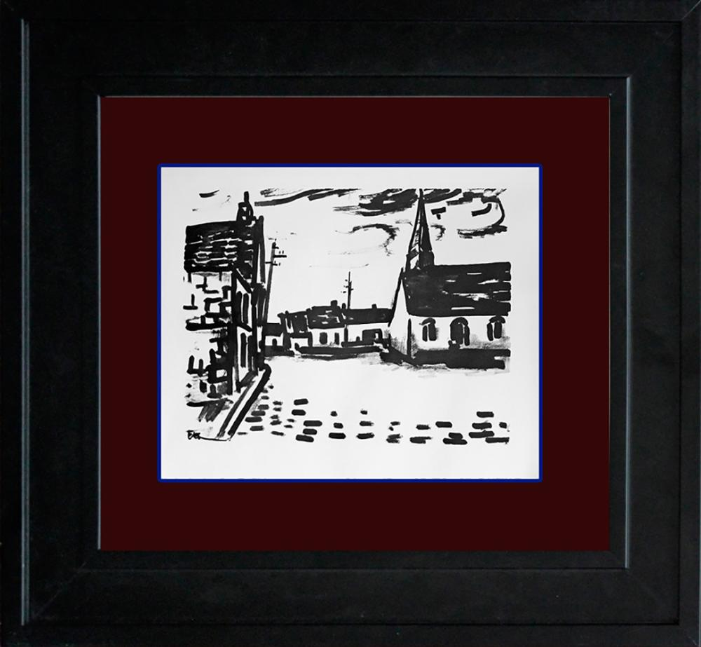 Lot 2900: Vlaminck Place de L'Elgise Limited Edition Original Lithograph Hand signed.