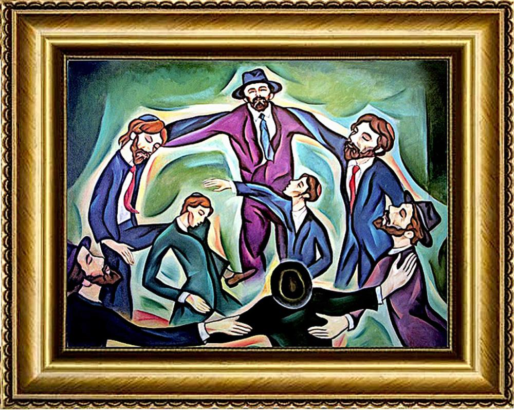 Zinovy Shersher Freilaks mixed media on canvas