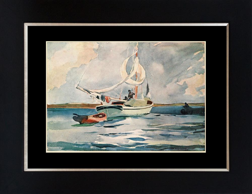 Winslow Homer color plate lithograph