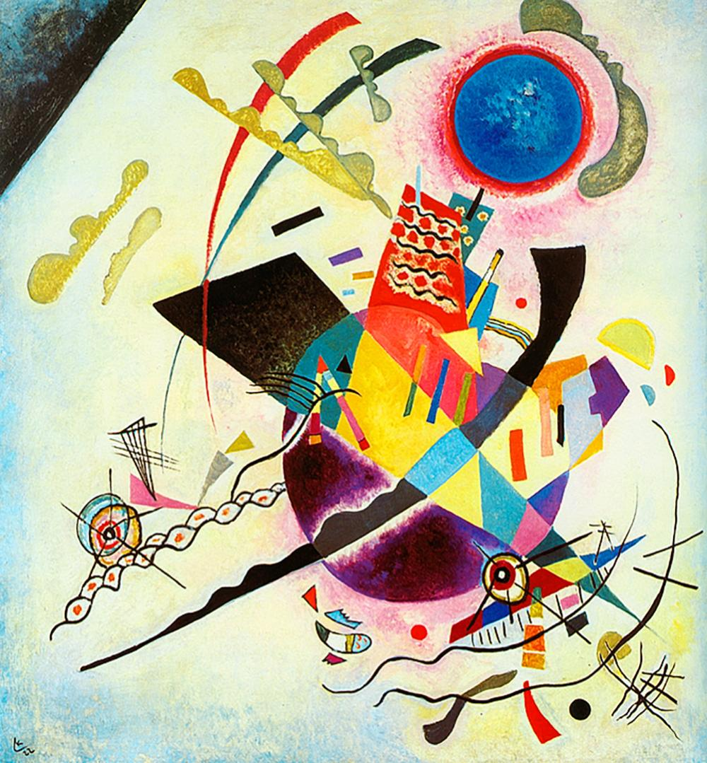 Lot 2922: After Kandinsky-Limited Edition -Blue Circle