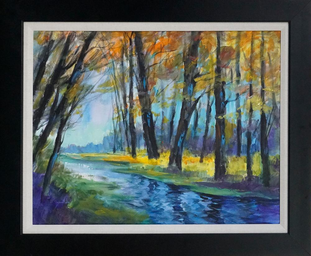 Lot 2937: Schofield Hand Embellished canvas 30x40 Image Approx.