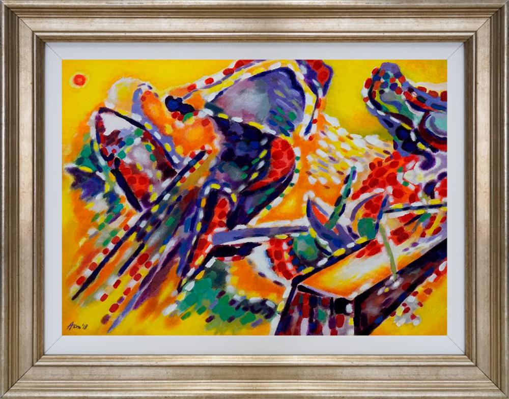 Lot 2945: Katherine Arion Original oil on canvas Abstract