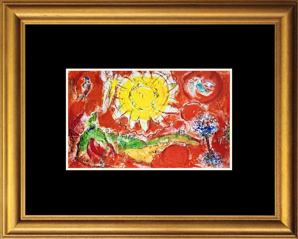 Lot 2938: Marc Chagall Hand signed Lithograph Mourlot Press from 1969