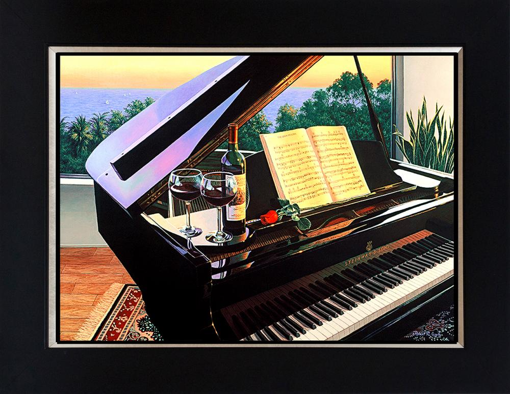 Lot 2959: Robert Copple Wine Series Hand embellished Limited edition on canvas