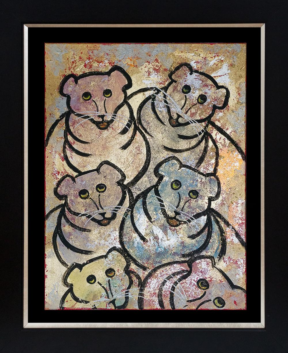 Lot 2994: Original Bears on canvas by Gaylord Soli