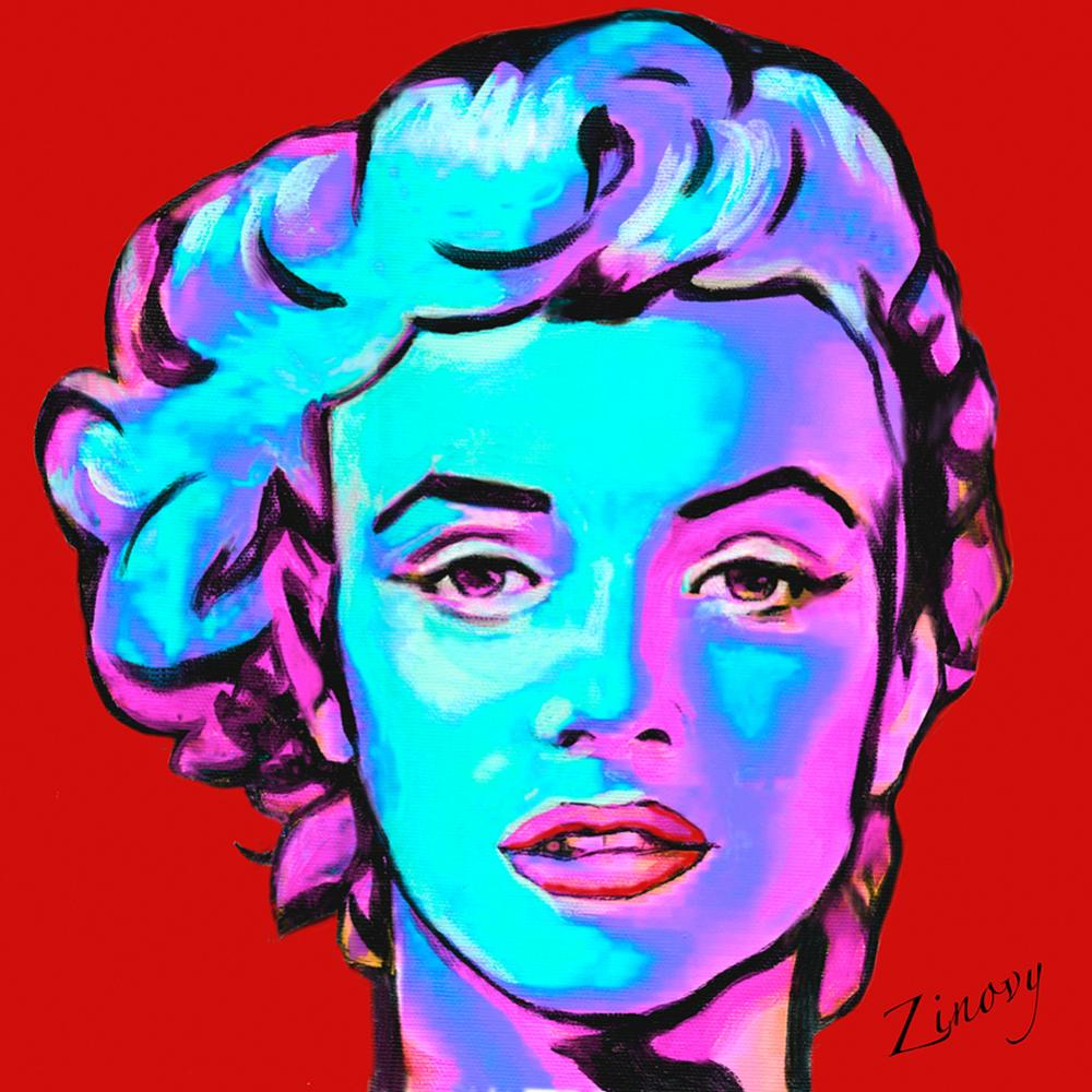 Lot 2995: Marilyn Monroe on canvas limited edition by Zinovy