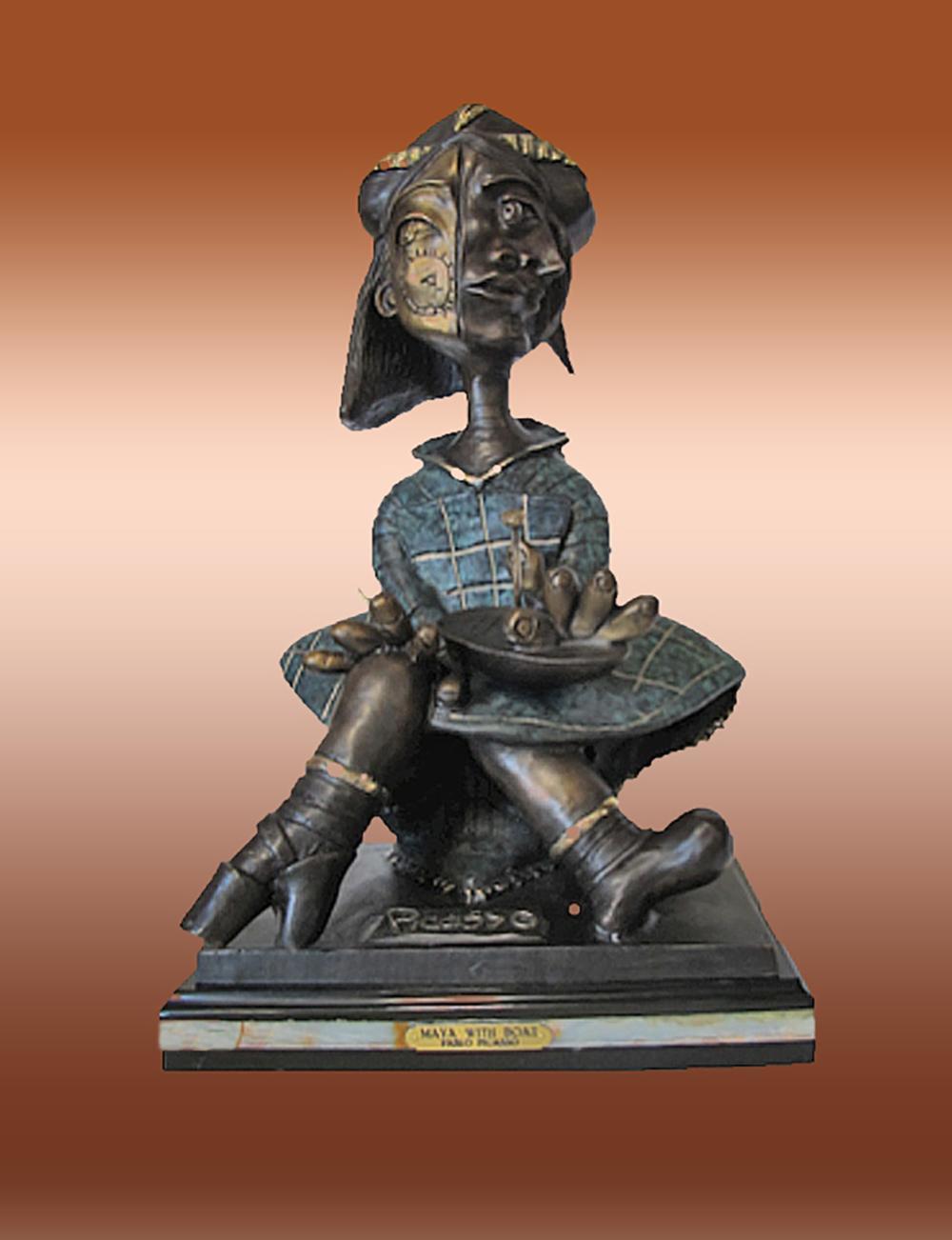 Lot 3025: Pablo Picasso Maya and Boat Fine Bronze