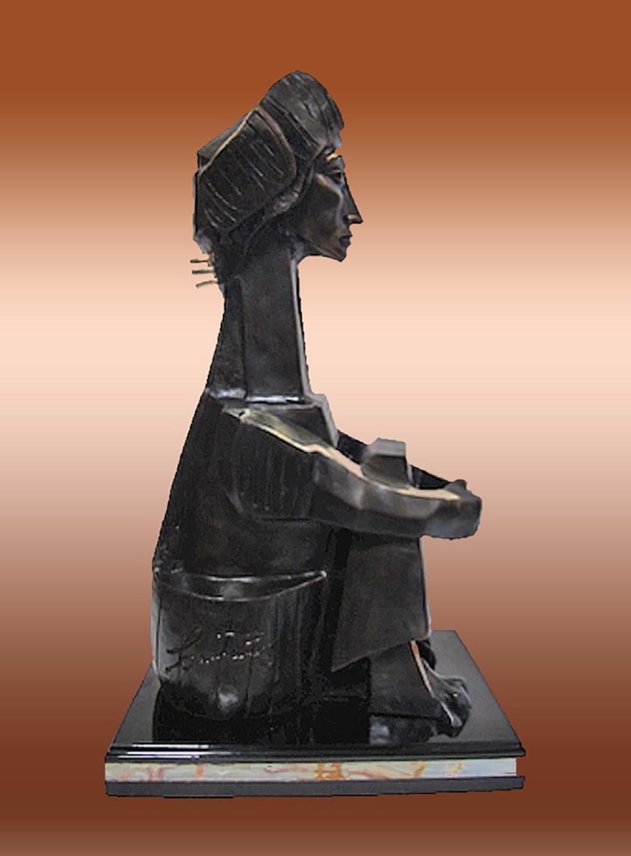 Lot 3026: Jacqueline Pablo Picasso Bronze Sculpture