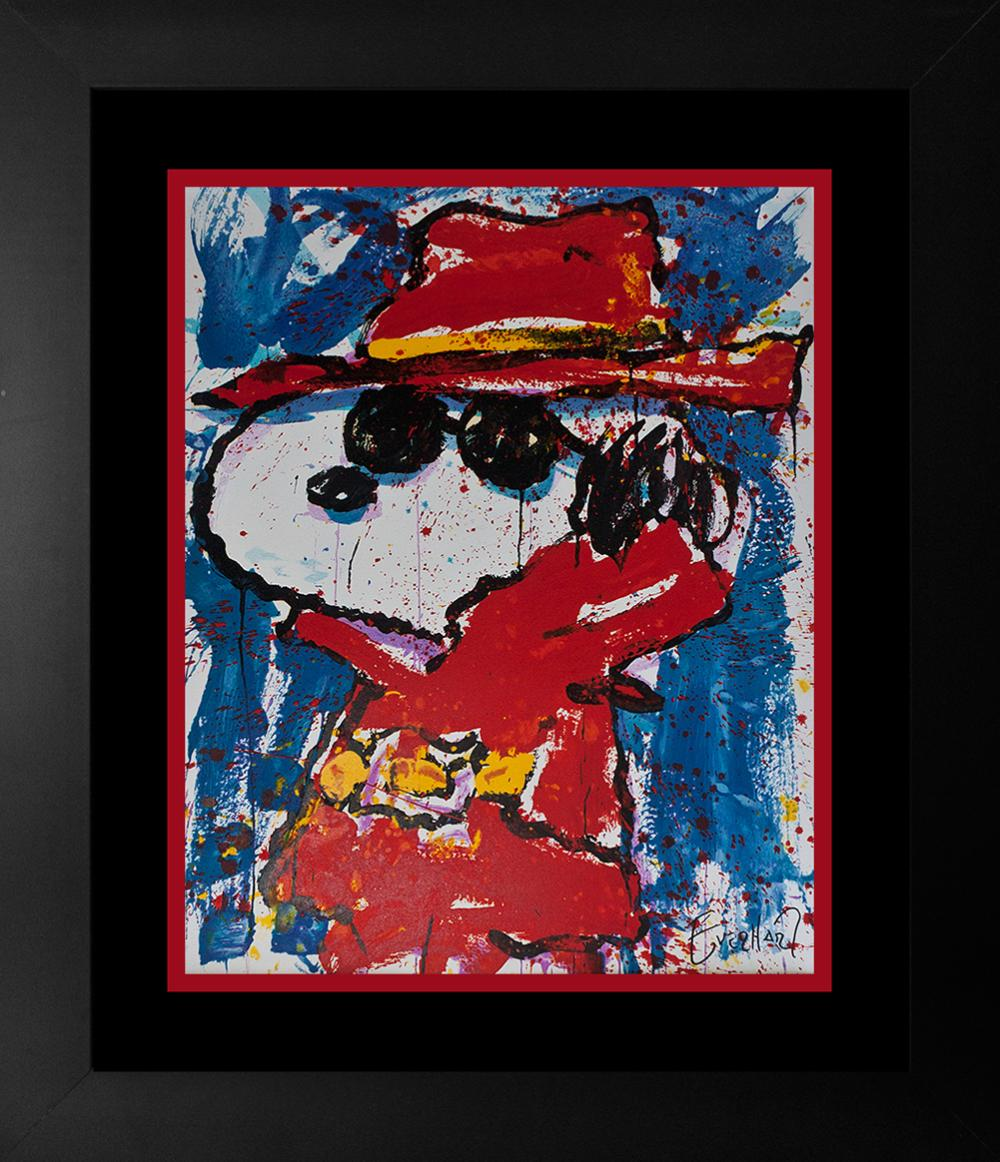 Lot 3018: Original Lithograph by Tom Everhart Snoopy Undercover in Hollywood 2001 Limited Edition