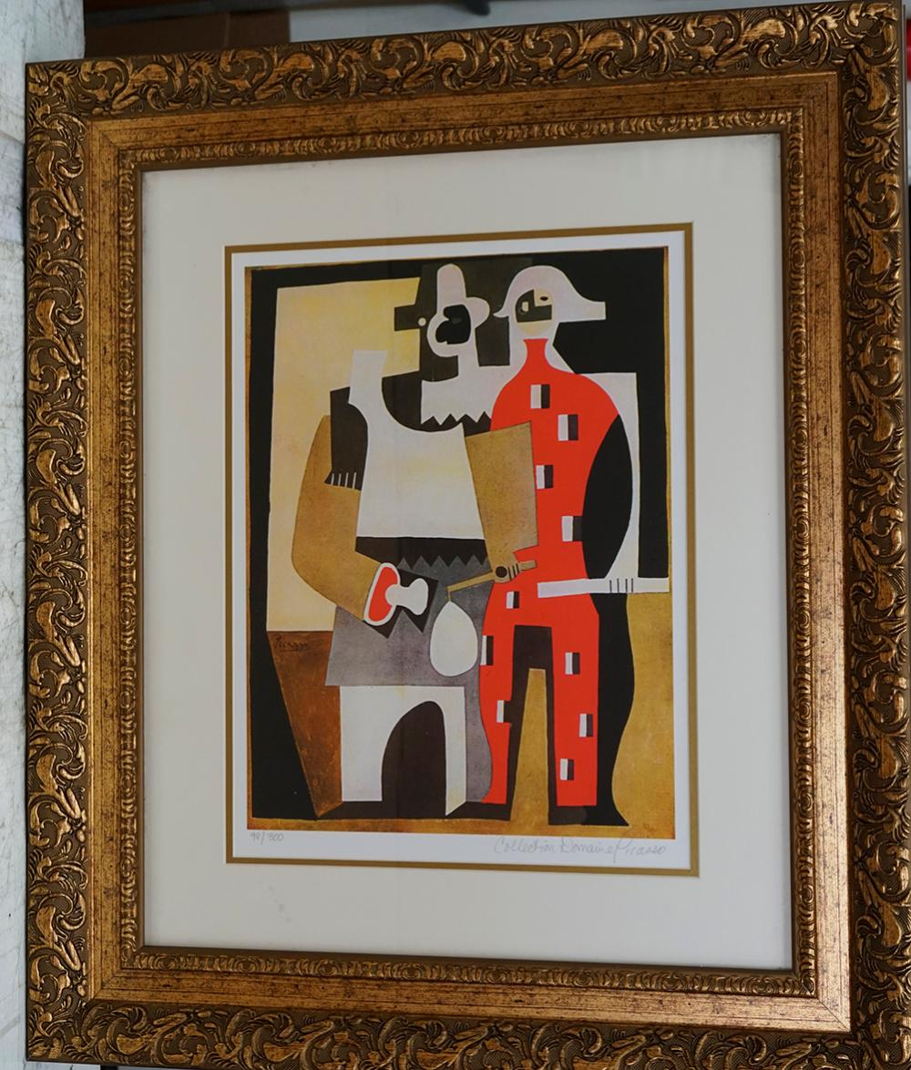 Lot 3028: Pablo Picasso Lithograph Limited Edition Harlequins Collection Domain Picasso