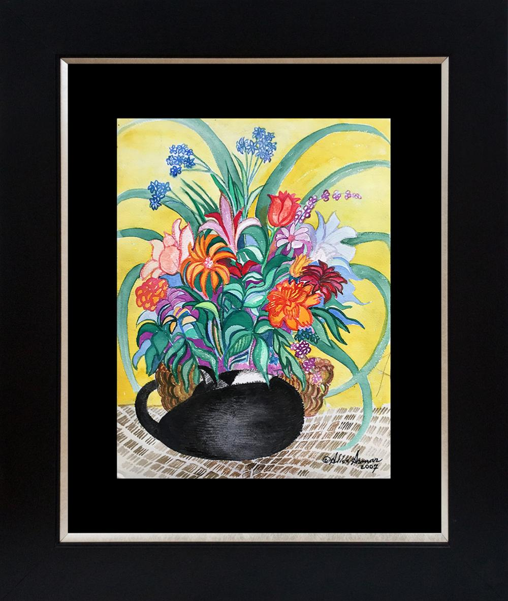 Lot 3038: Alice Asmar Limited Edition Flowers and Angel