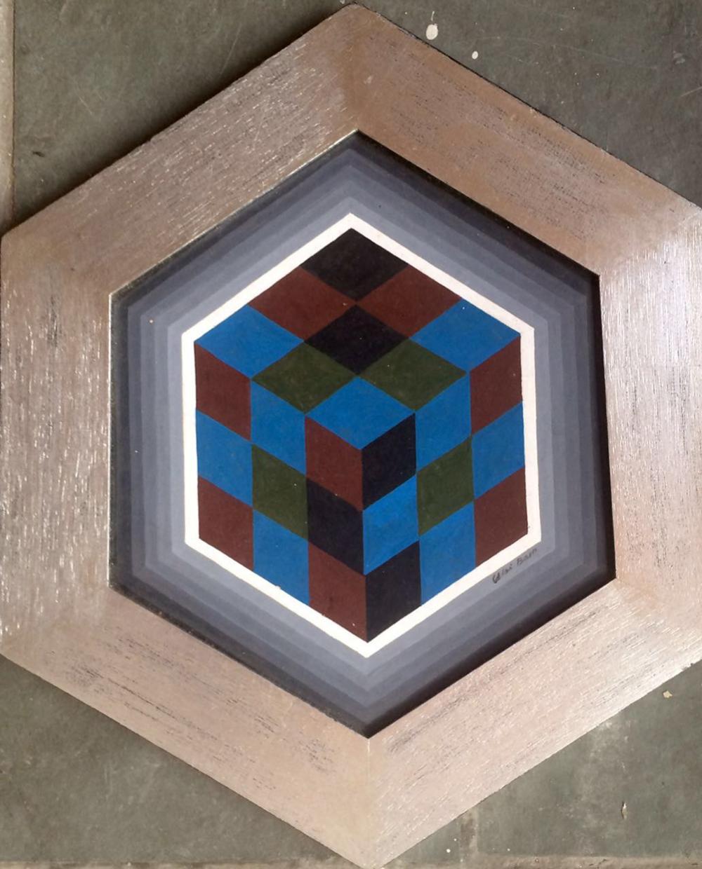 Lot 3085: Ubi Bava Original oil on wood 39 x 33 cm