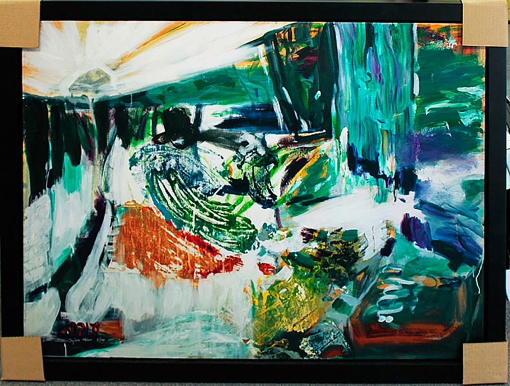 Lot 3078: Sylvia Adler Limited Edition Giclee on canvas Abstract hand Embellished