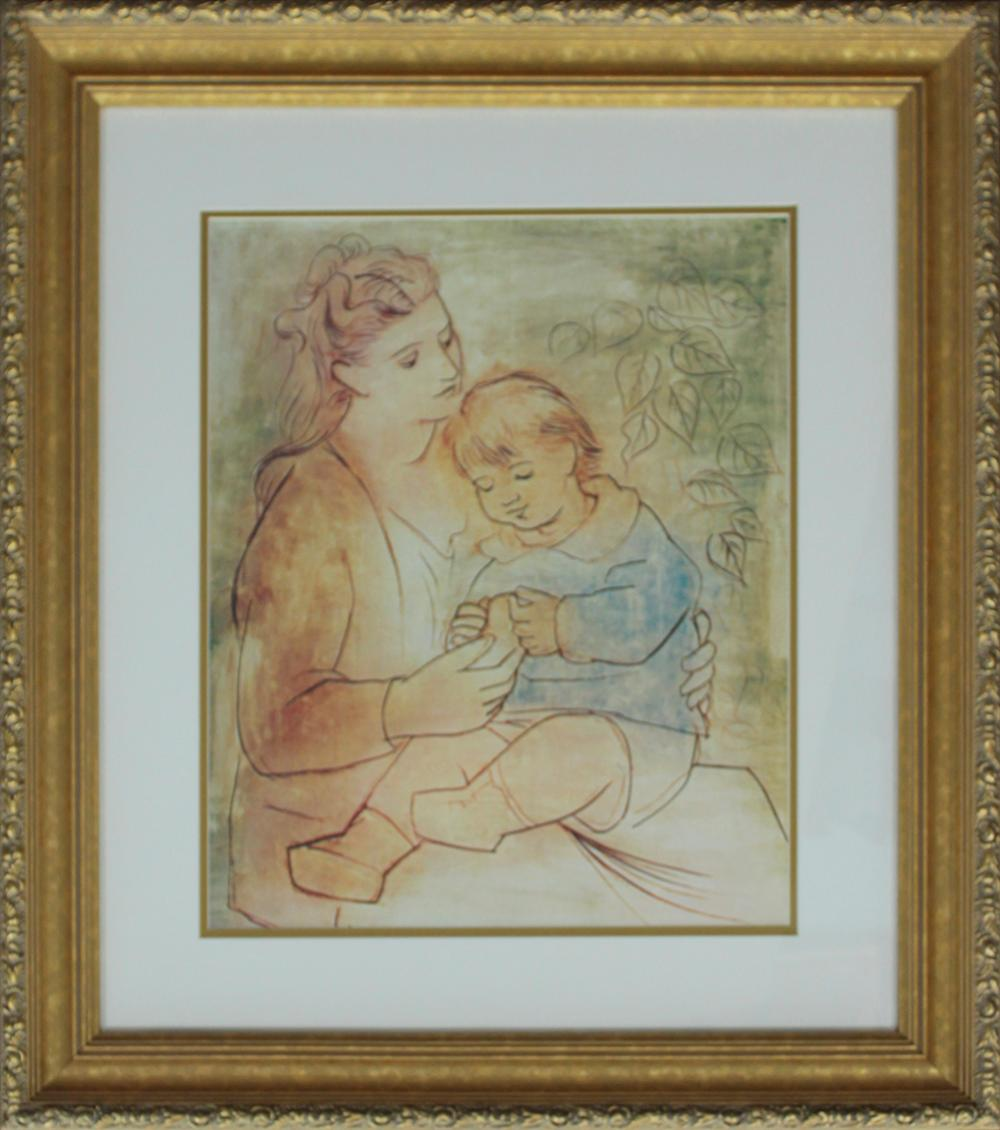 Lot 3108: Limited Edition Mother and Child after Pablo Picasso