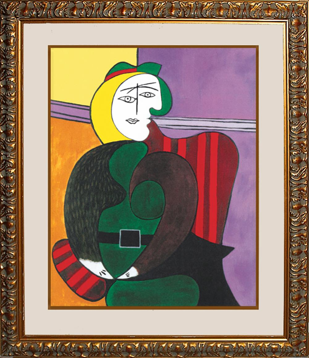 Lot 3110: Picasso Limited Edition Woman in the Red Arm Chair limited edition lithograph Collection Domain Picasso