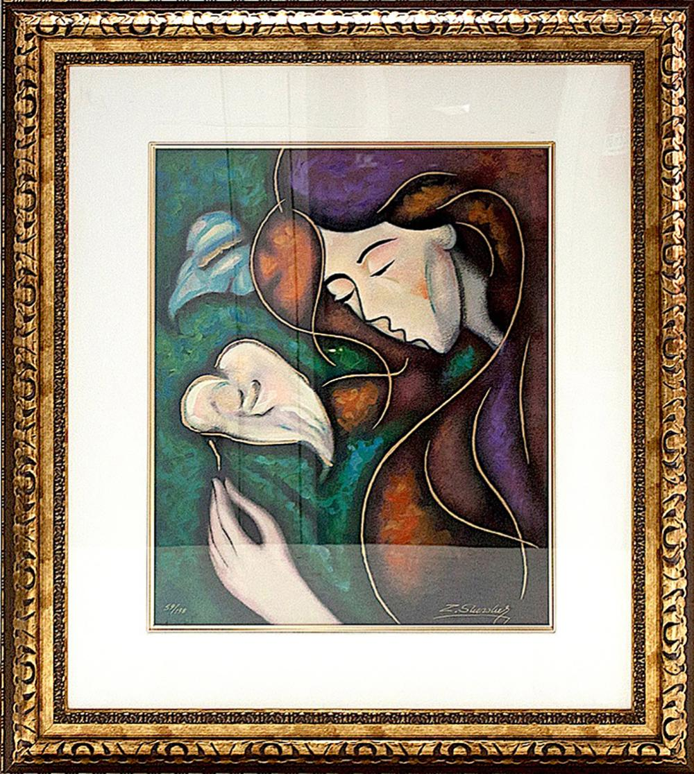 Lot 3101: Zinovy Shersher Two Beauties Limited Edition Serigraph