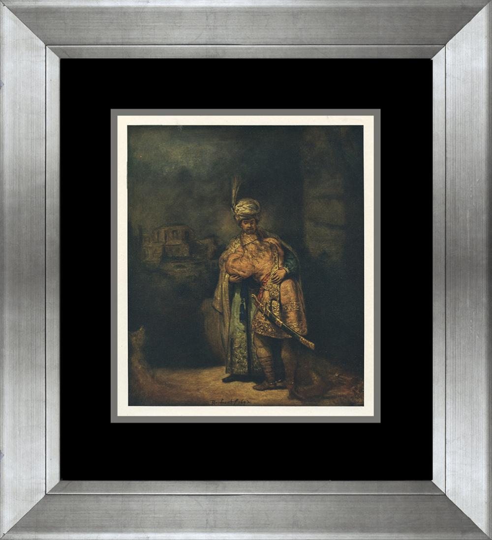 Lot 3132: Rembrandt Lithograph in colors from 1905 Embossed