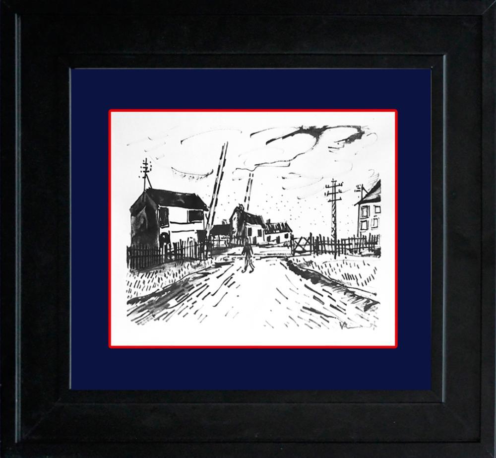 Lot 3198: Vlaminck Le Passage a Niveau Limited Edition Original Lithograph Hand signed.