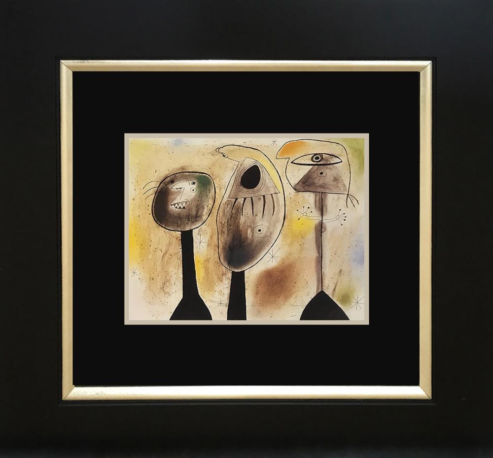 Lot 3201: Joan Miro Color Plate Lithograph