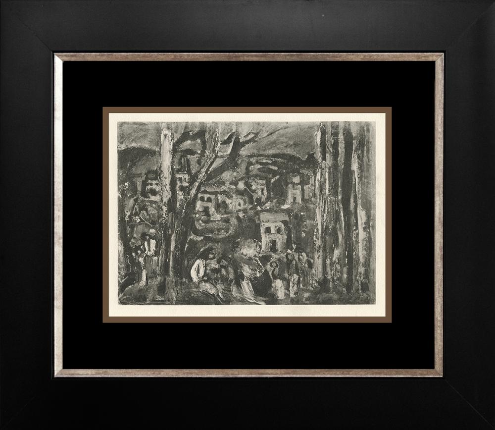 Lot 3312: George Rouault Color Plate Lithograph