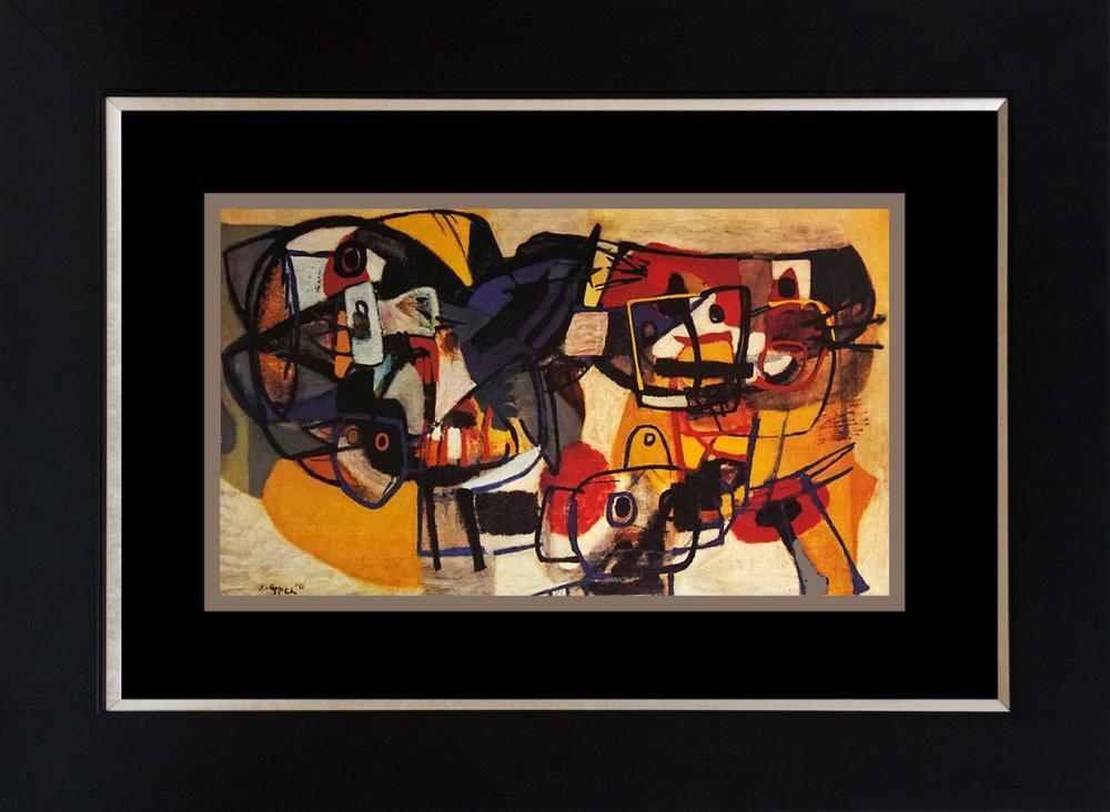 Lot 3252: Karel Appel Color Plate Lithograph