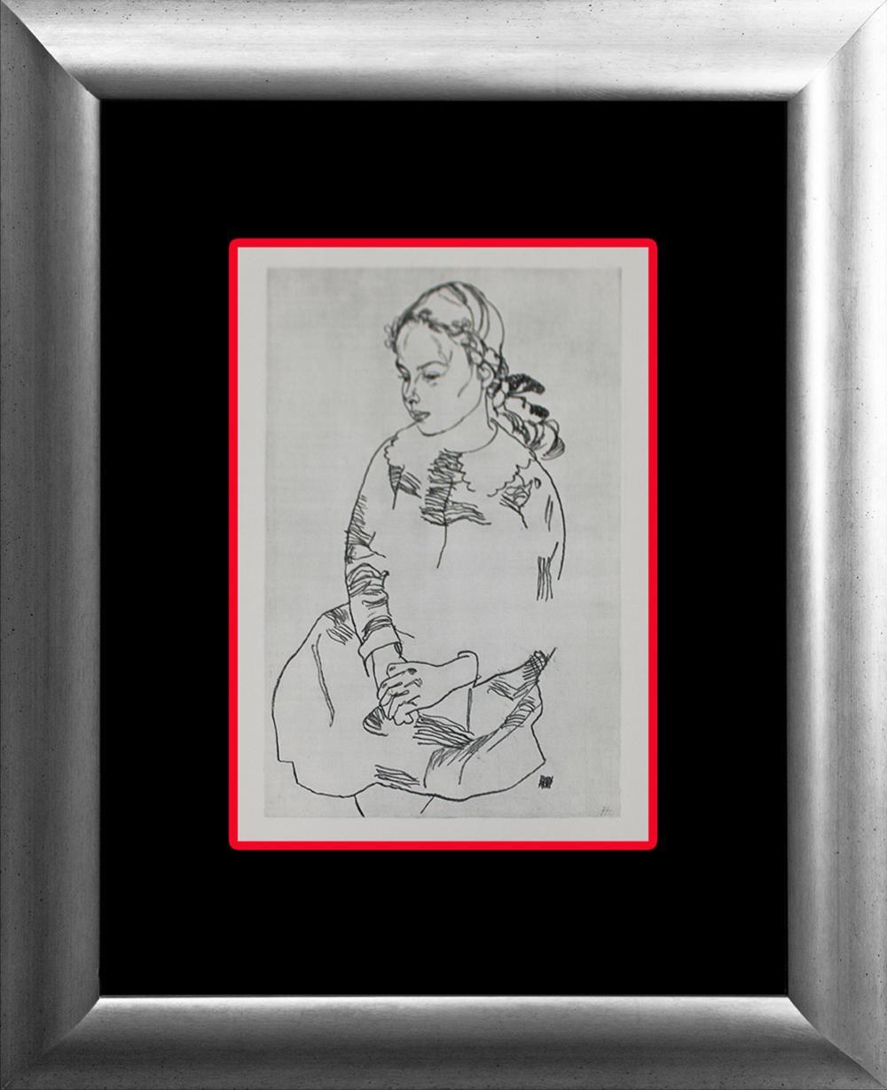 Lot 3352: Egon Schiele lithograph from Zeichner Portfolio