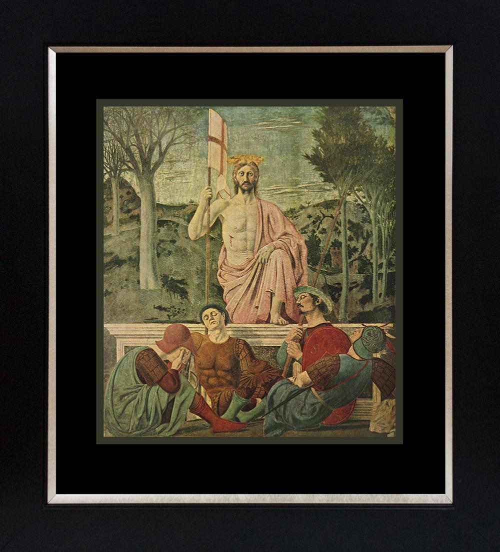 Lot 3329: Piero della Francesca Color Plate Lithograph Discovery of the True Cross from 1957