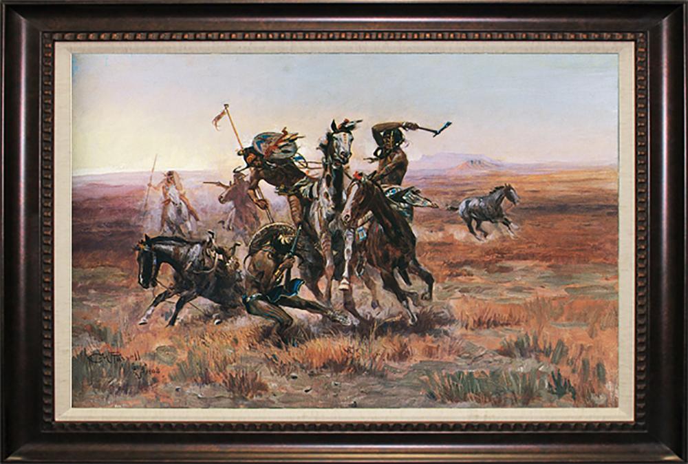 Lot 3377: After C M Russell When Blackfeet and Sioux Meet