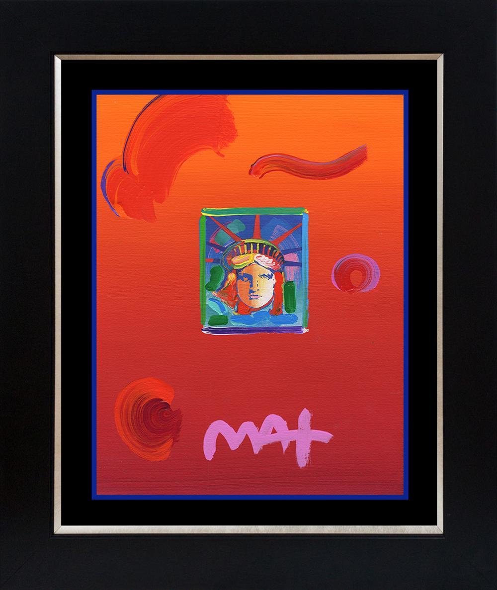 Lot 3397: Peter Max Mixed Media Original