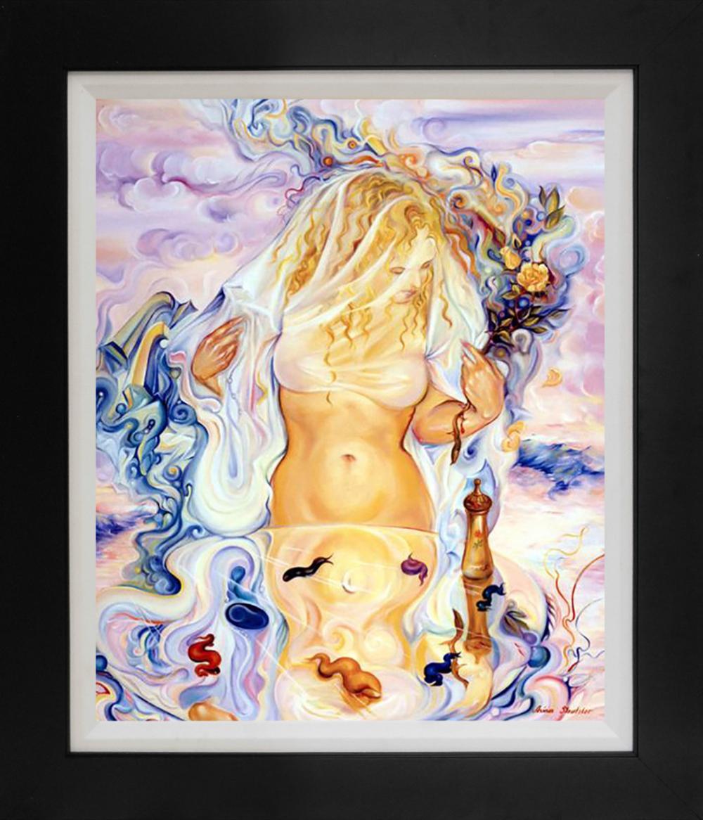 Lot 3406: Arina Sleutsker mixed media original on canvas