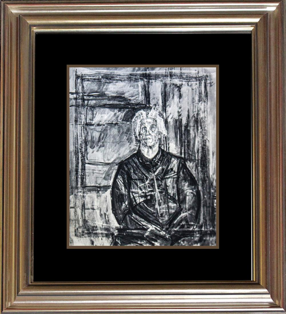 Lot 3435: Alberto Giacometti Lithograph from the Verve Collection 80 years old.