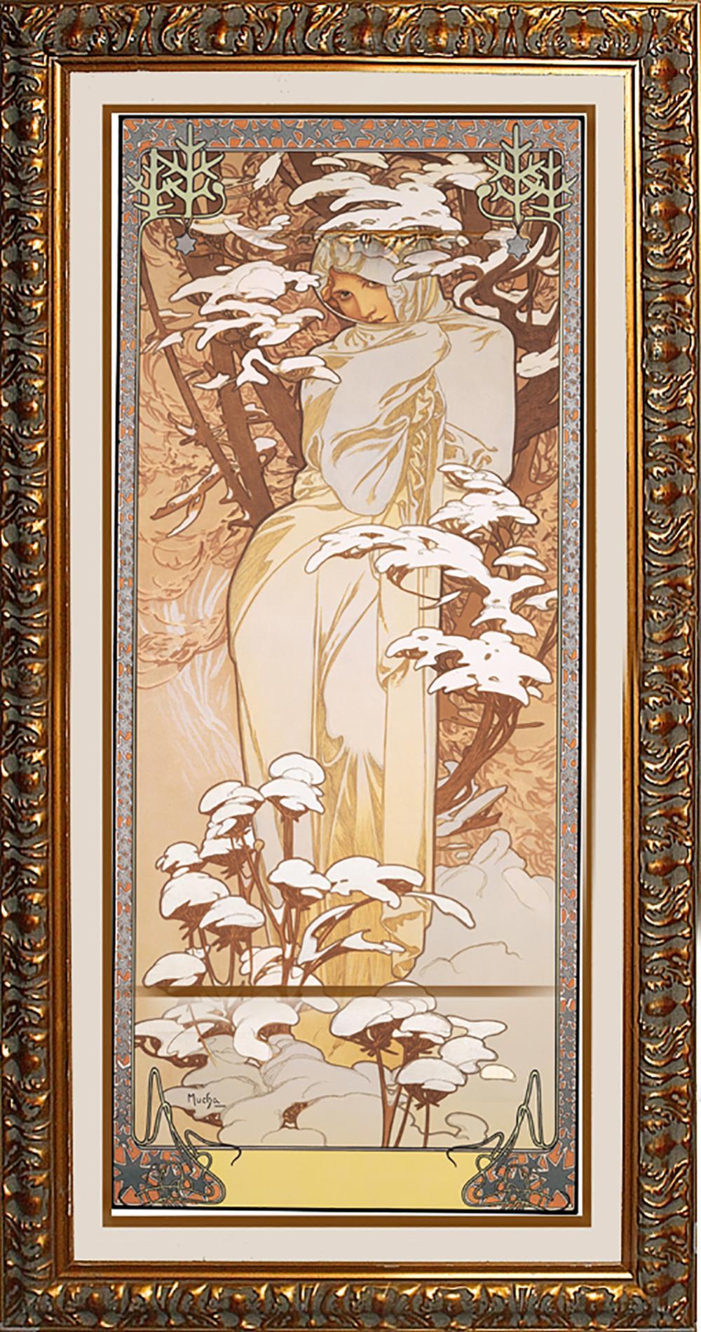 Lot 3426: Winter After Alphonse Mucha