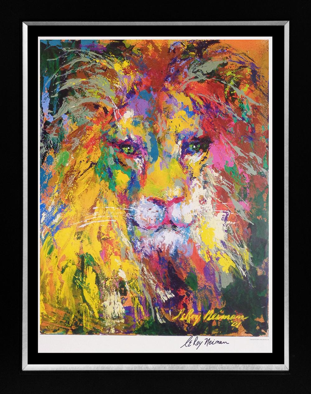Lot 3523: Lion by Le Roy Neiman Lithograph Hand signed