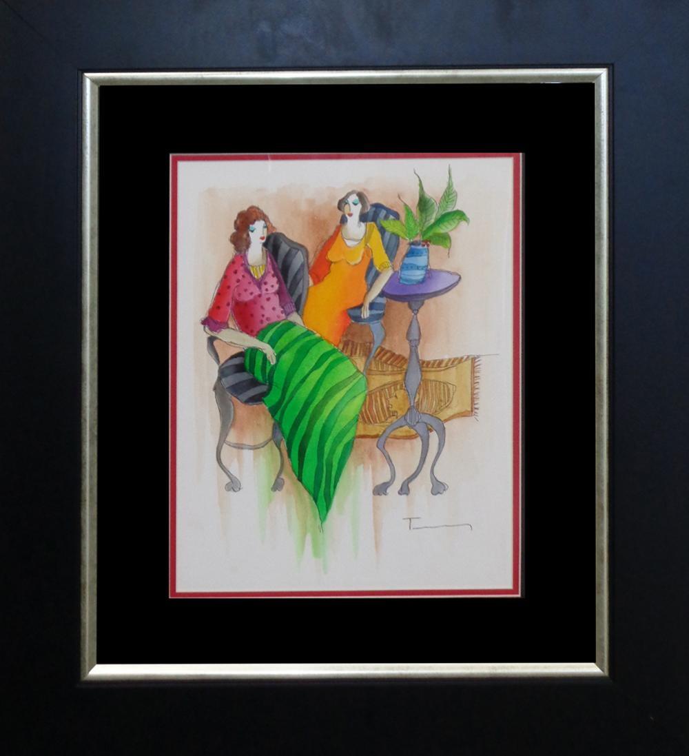 Lot 3604: Tarkay Original Watercolor
