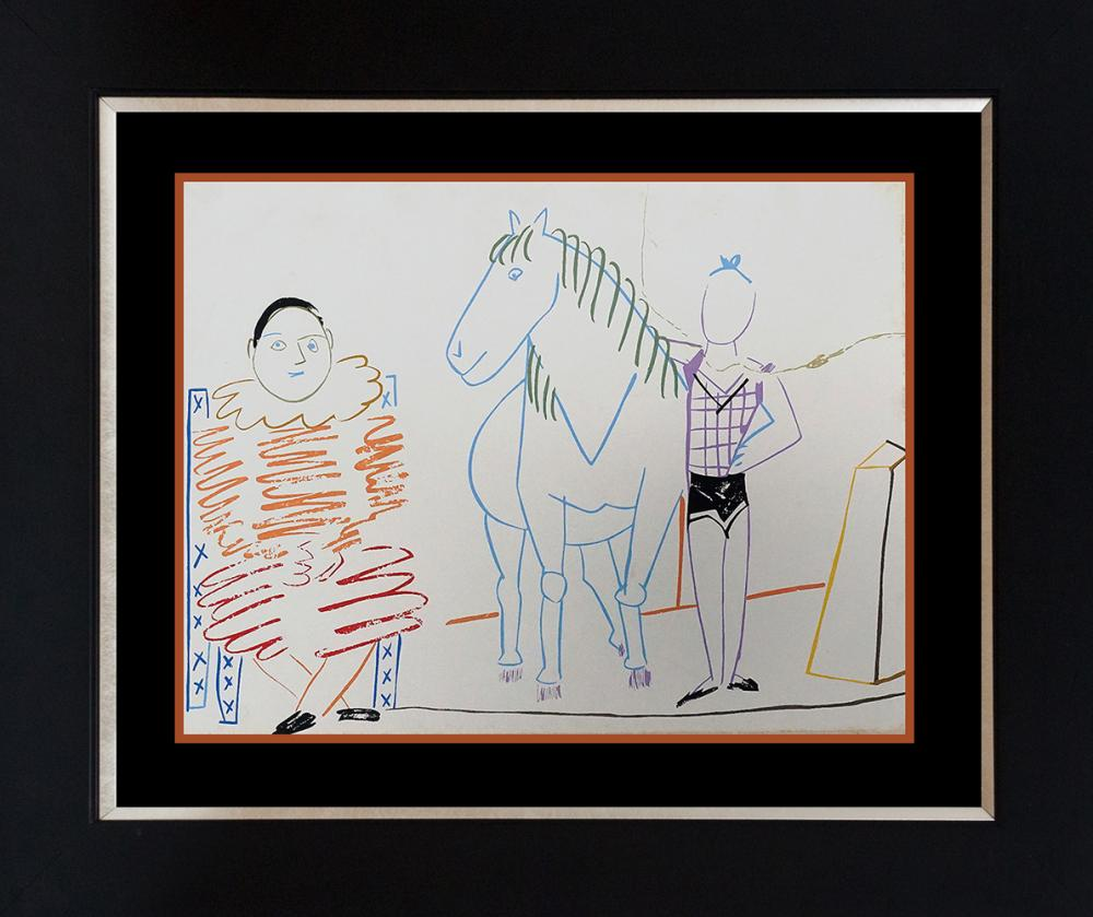Lot 3591: Pablo Picasso Original Lithograph from 1968 of colored drawings