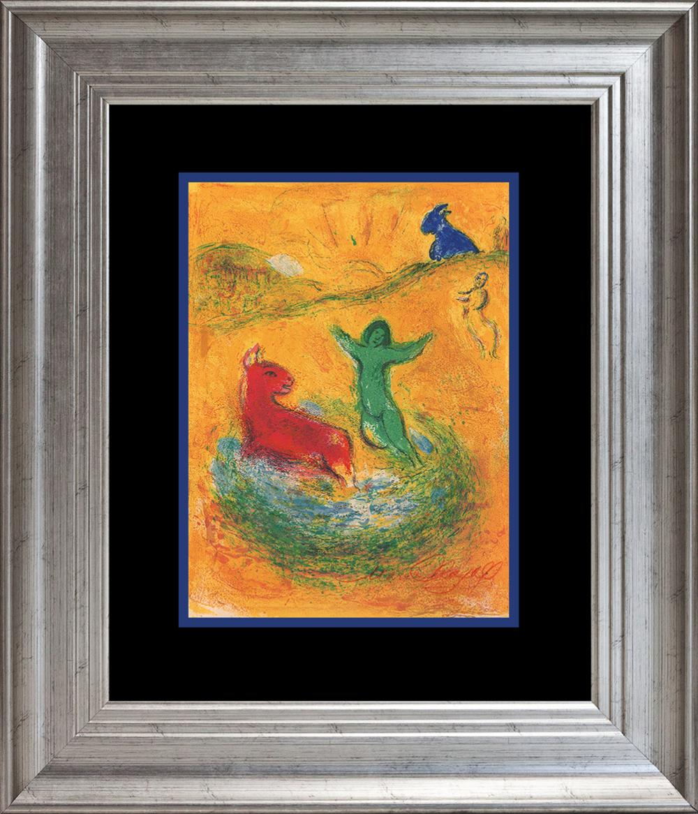 Lot 3601: Marc Chagall Hand Signed Lithograph from 50 years ago