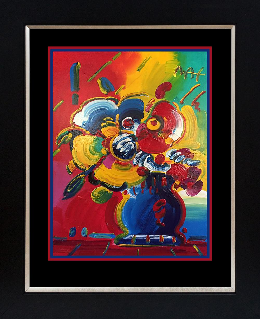 Lot 3578: Original acrylic on canvas by Peter Max 48x36 inches image size