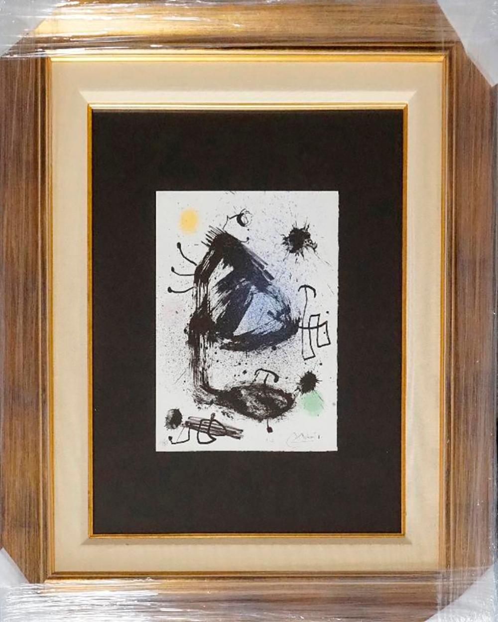 Lot 3573: Joan Miro Original Lithograph Limited Edition