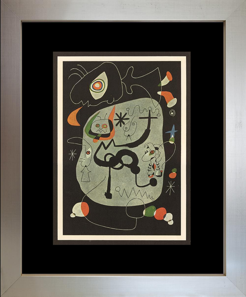 Lot 3624: Joan Miro Lithograph from 1968.