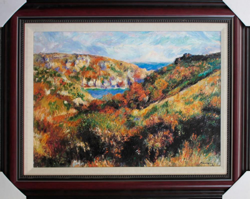 Lot 3598: After Pierre Renoir Embellished Giclee on canvas